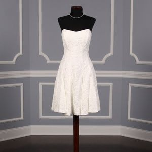Nicole Miller Mirabell Short Lace Wedding Dress